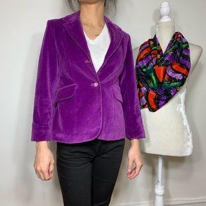 Papi d'Anjo • purple velvet blazer
